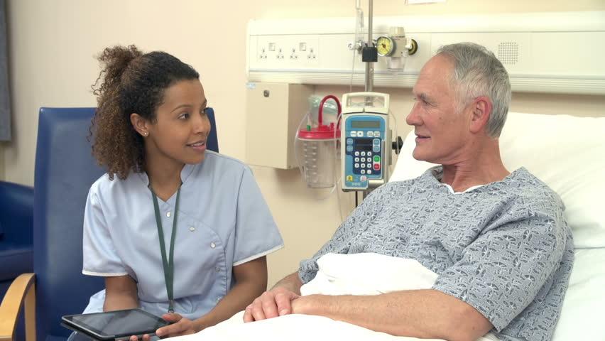 het werk van een verpleegkundige